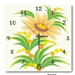 hOurHome Modern Art Paintings & Clock -Square, 1-piece set- Z0390