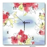 hOurHome Modern Art Paintings & Clock -Square, 1-piece set- Z0392