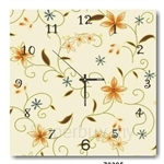hOurHome Modern Art Paintings & Clock -Square, 1-piece set- Z0395