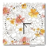 hOurHome Modern Art Paintings & Clock -Square, 1-piece set- Z0396