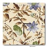 hOurHome Modern Art Paintings & Clock -Square, 1-piece set- Z0399