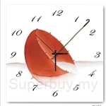 hOurHome Modern Art Paintings & Clock -Square, 1-piece set- Z0404