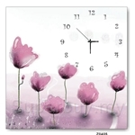 hOurHome Modern Art Paintings & Clock -Square, 1-piece set- Z0405