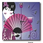 hOurHome Modern Art Paintings & Clock -Square, 1-piece set- Z0410