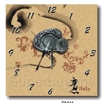 hOurHome Modern Art Paintings & Clock -Square, 1-piece set- Z0411