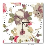 hOurHome Modern Art Paintings & Clock -Square, 1-piece set- Z0501