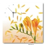 hOurHome Modern Art Paintings & Clock -Square, 1-piece set- Z0504