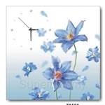 hOurHome Modern Art Paintings & Clock -Square, 1-piece set- Z0509