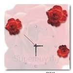 hOurHome Modern Art Paintings & Clock -Square, 1-piece set- Z0510