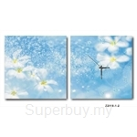 hOurHome Modern Art Paintings & Clock -Square, 2-pieces set- Z2118-1-2