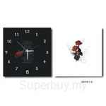 hOurHome Modern Art Paintings & Clock -Square, 2-pieces set- Z2119-1-2