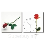 hOurHome Modern Art Paintings & Clock -Square, 2-pieces set- Z2120-1-2