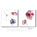 hOurHome Modern Art Paintings & Clock -Square, 2-pieces set- Z2131-1-2