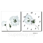 hOurHome Modern Art Paintings & Clock -Square, 2-pieces set- Z2132-1-2