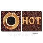 hOurHome Modern Art Paintings & Clock -Square, 2-pieces set- Z2134-1-2