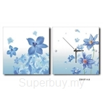 hOurHome Modern Art Paintings & Clock -Square, 2-pieces set- Z2137-1-2
