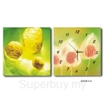 hOurHome Modern Art Paintings & Clock -Square, 2-pieces set- Z2139-1-2