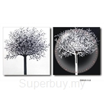 hOurHome Modern Art Paintings & Clock -Square, 2-pieces set- Z2141-1-2