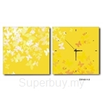 hOurHome Modern Art Paintings & Clock -Square, 2-pieces set- Z2142-1-2