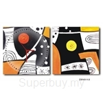 hOurHome Modern Art Paintings & Clock -Square, 2-pieces set- Z2143-1-2