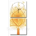 hOurHome Modern Art Paintings & Clock -Square, 2-pieces set- Z2146-1-2
