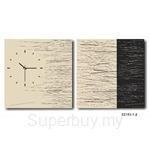 hOurHome Modern Art Paintings & Clock -Square, 2-pieces set- Z2153-1-2