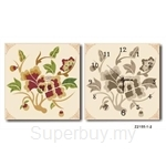 hOurHome Modern Art Paintings & Clock -Square, 2-pieces set- Z2155-1-2