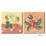 hOurHome Modern Art Paintings & Clock -Square, 2-pieces set- Z2159-1-2