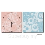 hOurHome Modern Art Paintings & Clock -Square, 2-pieces set- Z2163-1-2