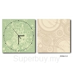 hOurHome Modern Art Paintings & Clock -Square, 2-pieces set- Z2164-1-2