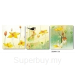 hOurHome Modern Art Paintings & Clock-Square, 3 Pieces-Z3205