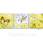hOurHome Modern Art Paintings & Clock-Square, 3 Pieces-Z3228