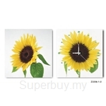 hOurHome Modern Art Paintings & Clock -Square, 2-pieces set-Z2206-1-2