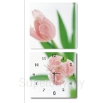 hOurHome Modern Art Paintings & Clock -Square, 2-pieces set-Z2207-1-2