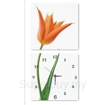 hOurHome Modern Art Paintings & Clock -Square, 2-pieces set-Z2208-1-2