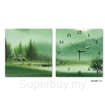 hOurHome Modern Art Paintings & Clock -Square, 2-pieces set-Z2229-1-2