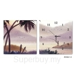 hOurHome Modern Art Paintings & Clock -Square, 2-pieces set-Z2230-1-2