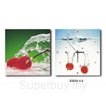 hOurHome Modern Art Paintings & Clock -Square, 2-pieces set-Z2232-1-2