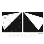 hOurHome Modern Art Paintings & Clock -Square, 2-pieces set-Z2247-1-2