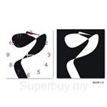 hOurHome Modern Art Paintings & Clock -Square, 2-pieces set-Z2249-1-2