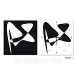 hOurHome Modern Art Paintings & Clock -Square, 2-pieces set-Z2250-1-2