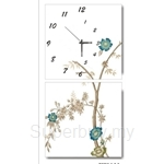 hOurHome Modern Art Paintings & Clock -Square, 2-pieces set-Z2263-1-2