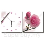 hOurHome Modern Art Paintings & Clock -Square, 2-pieces set-Z2276-1-2