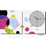 hOurHome Modern Art Paintings & Clock -Square, 2-pieces set-Z2902-1-2