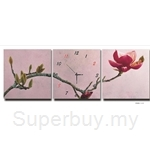 hOurHome Modern Art Paintings & Clock-Square, 3 Pieces-Z3293