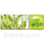 hOurHome Modern Art Paintings & Clock-Square, 3 Pieces-Z3312