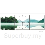 hOurHome Modern Art Paintings & Clock-Square, 3 Pieces-Z3318-1-2-3