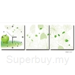 hOurHome Modern Art Paintings & Clock-Square, 3 Pieces-Z3321-1-2-3