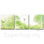 hOurHome Modern Art Paintings & Clock-Square, 3 Pieces-Z3325-1-2-3