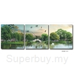 hOurHome Modern Art Paintings & Clock-Square, 3 Pieces-Z3330-1-2-3